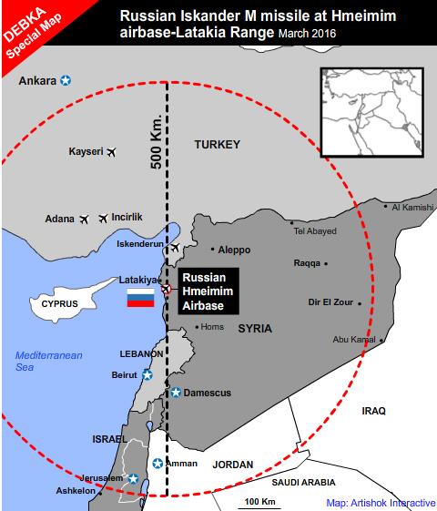 Rusland raket turkije IskandarMap