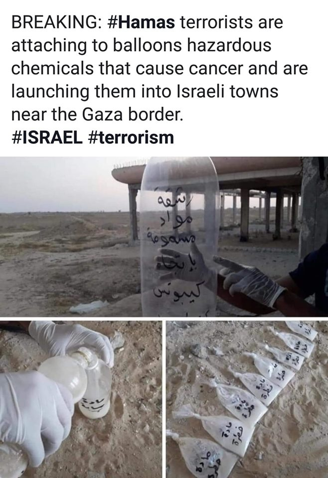ecoterrorisme hams naar israel