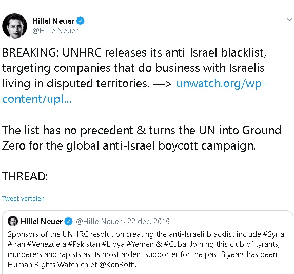 BREAKING UNHRC releases its anti-Israel blacklist, targeting companies t[...]