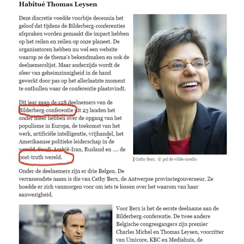 Bilderbergconferentie 2020 antitrump. NWO spiegel